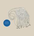 straw handbags boho style sketch vector image