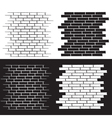 background of the brick wall set vector image