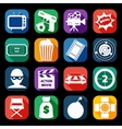 Action Movie Icons Set vector image