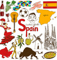 Collection of Spain icons vector image