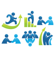 business collection of office workers vector image vector image