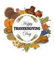 Background with elements of Thanksgiving vector image