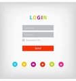 colorful login page ui vector image
