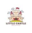 cute little castle logo for baby shop Kids vector image