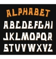 Decorative textured ABC letters Alphabet vector image