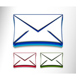 email icon web design element set vector image