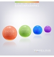 Modern 3d glossy ball elements timeline vector image