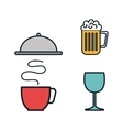 restaurant menu set icons vector image