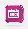 square icon calendar vector image