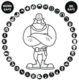 Black circular Health and Safety Icon collection vector image