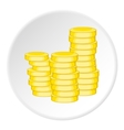 Coins icon cartoon style vector image