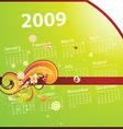 Bright 2009 Summer Calendar vector image