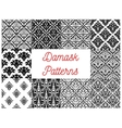 Damask seamless patterns of victorian flourishes vector image vector image