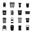 Garbage container icons set simple style vector image