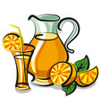 fresh orange juice vector image vector image