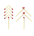 Trees Symbols Made from Matches vector image vector image