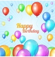 Color Happy birthday card Balloons fly vector image vector image