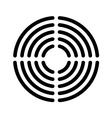 Speaker grille concentric lines template vector image