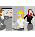 business women vector image
