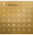 Shipping Line Icons vector image vector image