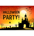 Halloween festival with graveyard vector image vector image