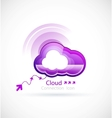 technology cloud vector image vector image