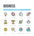 Business icons Thin line pictograms vector image