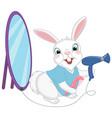 cartoon barber rabbit vector image