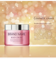 cosmetic products facial treatment cream vector image