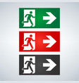 fire emergency icons signs of evacuations vector image