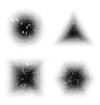 Grunge Halftone Shapes vector image