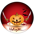 murderer pumpkin vector image