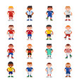 national eurcup soccer football team players vector image