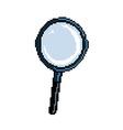 pixel magnifier vector image