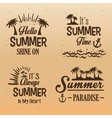 poster set summer paradise-hello-always in my vector image