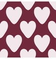 Red heart abstract background vintage seamless vector image