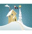 Santa Claus delivering gifts vector image