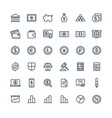thin line icons set with banking and vector image