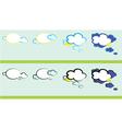 weather talk vector image