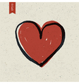 heart symbol on paper vector image
