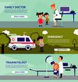 sick people horizontal banners vector image
