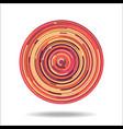 abstract digital circles background vector image