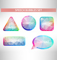 Set of geometric speech balloons or talk bubbles vector image vector image