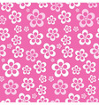 Abstract Retro Seamless Pink Flower Pattern - vector image
