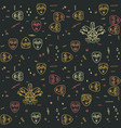 carnival theater masks seamless pattern vector image