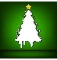Christmas tree green card EPS 8 vector image