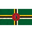 Dominica paper flag vector image