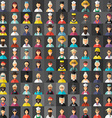 Flat Design Style Avatar Background Different vector image