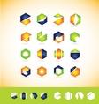 Logo icon set elements vector image
