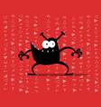 monster computer virus vector image